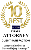 10 Best Attorney Client Satisfaction - 3 Years